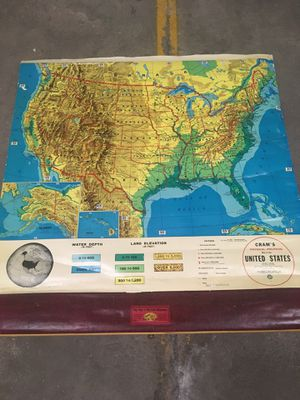 Cram's Very Vintage USA School Map for Sale in Denver, CO