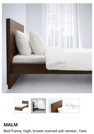 MALM ikea twin bed frame for Sale in Tampa, FL