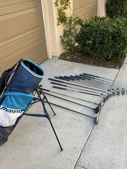 Golf Bag And Clubs. 1-9 Iron, Putter, And Drivers Right Handed for Sale in Irvine,  CA