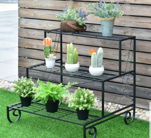 Steel Plant Holder Garden Lawn Durable 3 Shelves for Sale in Sarasota, FL