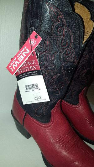 Ariat Women's Black and Red Leather Boots for Sale in St. Petersburg, FL