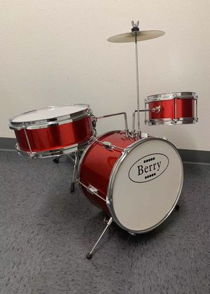 NEW IN BOX Berry 13 Inch Bass Drum Junior Real Drum Set with Throne Cymbal Pedal and Wooden Drumsticks for Sale in Whittier, CA