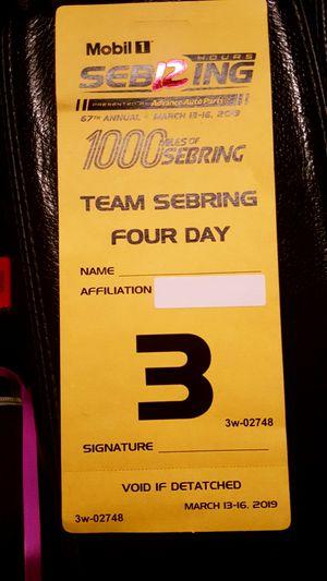 Sebring Races 4 day pass for Sale in Sebring, FL