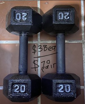 20lb dumbbells cast iron for Sale in Covina, CA