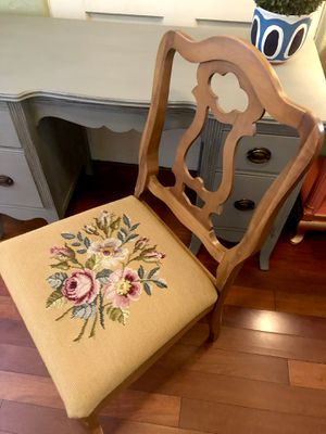 Solid Antique Chair with Floral Design for Sale in Phoenix, AZ