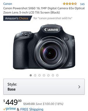 Canon Powershot SX60 SH for Sale in Brandon, IA