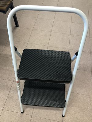USED IN GOOD CONDITION COSCO BLACK FOLDING 2 STEP STOOL LADDER for Sale in Laurel, MD
