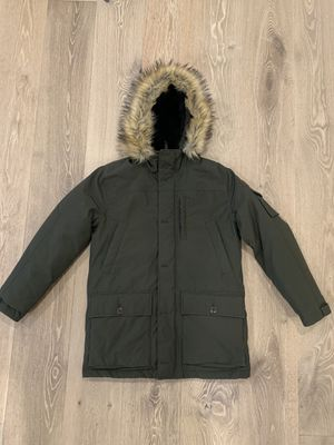 J Crew Nordic Down Parka with Fur Hood - Men's Size Large - Olive Green for Sale in Rancho Santa Fe, CA