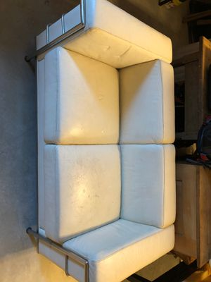 White Leather Couch for Sale in San Antonio, TX