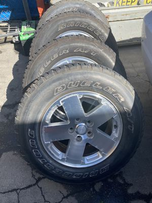 "Jeep Wrangler 18"" wheels and tires for Sale in Salinas, CA"
