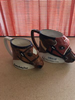 2 race track horse coffee mugs for Sale in San Marcos, CA