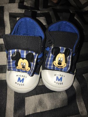 Mickey Mouse infant boy shoes size 6-9 months for Sale in Sacramento, CA