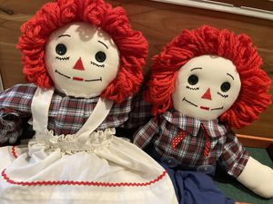 Vintage raggedy Ann and andy dolls for Sale in Miami, FL