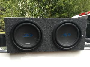 2 Alpine Type S Subwoofers/Kenwood Amp in box for Sale in Seattle, WA