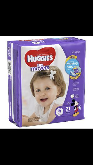 size5 Huggies Little movers 15 packs for a hundred bucks will sell separately for Sale in Columbus, OH