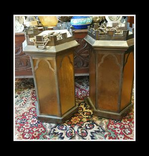 Pair of large vintage hanging light fixtures mid century modern for Sale in Winchester, MA
