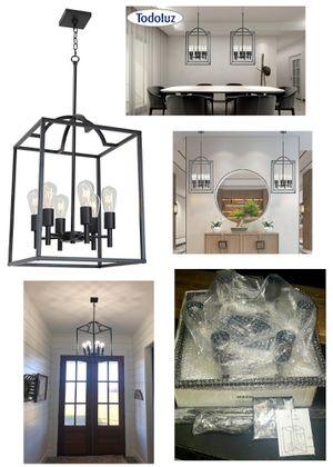 Large 6-Light Cage Chandelier Pendant Lighting Fixture for Sale in Glendale, CA