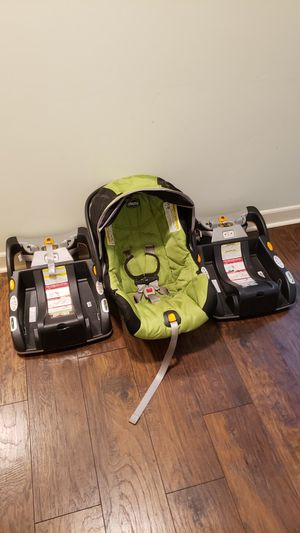 Chicco keyfit 30 carseat with 2 bases for Sale in Greenville, SC