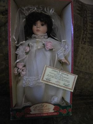 Porcelain doll in wedding dress for Sale in Nashville, TN