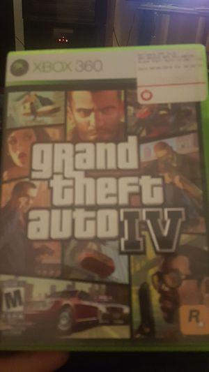 Xbox360 gta4 for Sale in Tacoma, WA