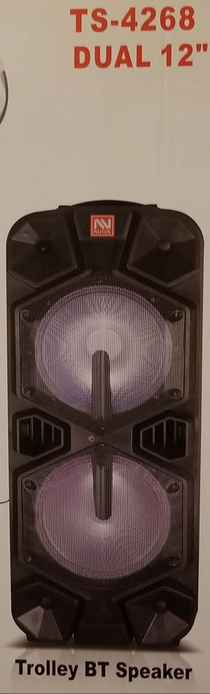 12 Inch New Bluetooth Speaker SD Card,Slot USB Port,FM Radio,Microphone Included For Karaoke ( Bosina ) Bz3 for Sale in March Air Reserve Base, CA