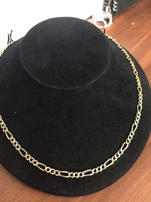 """Gold Figaro Chain Solid 14kt Gold 21"""" Long 4.5mm Father's Day Special #2968 for Sale in Scottsdale, AZ"""