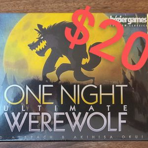 One Night Ultimate Werewolf Board Game for Sale in San Diego, CA