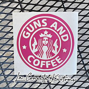 Guns and coffee Starbucks decal for Sale in Phoenix, AZ