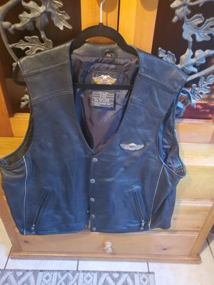 Harley Davidson 100 year anniversary mens leather vest 2xlg for Sale in Henderson, NV