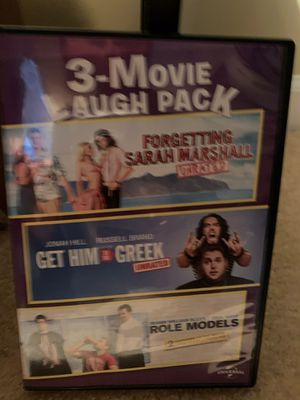 Three movies in one! Get Him to the Greek, Forgetting Sarah Marshall, and Role Models for Sale in Strasburg, VA