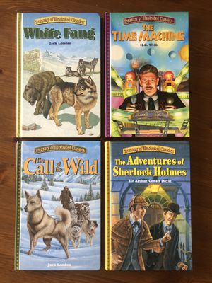 📚 NEW Treasury of Illustrated Classic Books White Fang Sherlock Holmes Stories🕵️♂️ for Sale in Murrieta, CA
