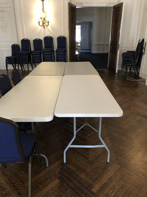Plastic folding tables for Sale in Washington, DC