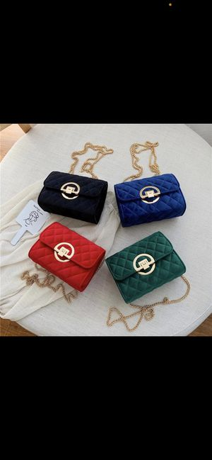 Winter Solid Color Velvet Mini Crossbody Bags For Women 2020 Lady Shoulder Messenger Bag Luxury Designer Purses and Handbags for Sale in Sugar Land, TX