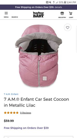 7am Enfant winter grade carseat cover for Sale in Buffalo, NY