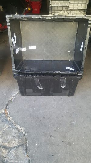 BLACK AND GRAY PLASTIC TOTES FOR SALE ! $5.00 EACH for Sale in Westchester, IL