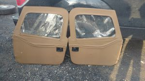 Topless tan Jeep doors and roof top for Sale in Gaithersburg, MD