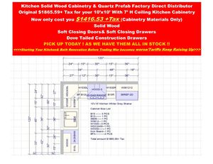Vanity Cabinet Kitchen Cabinet Quartz Counter Tops Factory Direct Wholesaler for Sale in Los Angeles, CA