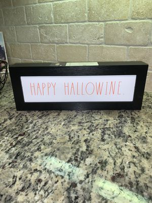 Happy Hallowine Sign Rae Dunn for Sale in Irving, TX