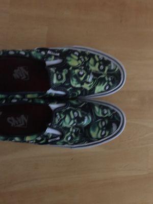 Supreme skull vans slip on size 9 (glow in the dark) for Sale in Arlington, TX