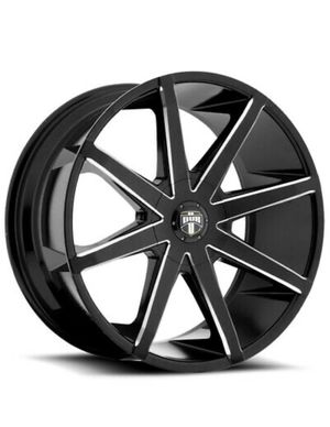 Dub Wheels - Push (S109) Black / Milled Wheel Rim - 20x8.5 | Bolt Pattern: 6x5.2/ 6x132. with sailun terramax tires for Sale in Houston, TX