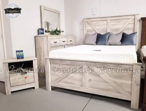 PICK YOUR STYLE❗ DEAL❗ $799!!! FREE DELIVERY!!⛟ ASHLEY QUEEN BED FRAME DRESSER AND MIRROR!!!!! for Sale in Oviedo, FL
