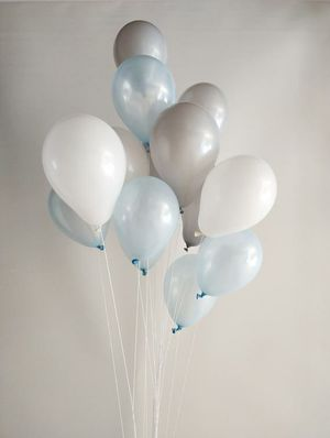 Light blue grey white balloon birthday baby shower *FIRM * for Sale in Rancho Cucamonga, CA