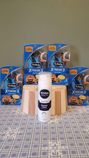 Schick Xtreme 3 razors and Nivea sensitive shaving foam for Sale in Attleboro, MA
