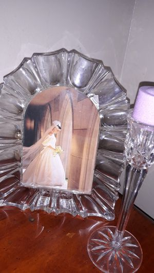 Princess House Crystal frame crystand candle holder for Sale in Valley Home, CA