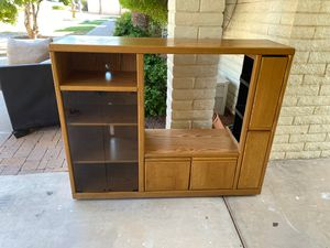Wooden tv stand for Sale in Phoenix, AZ