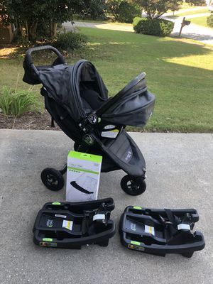 Baby Jogger City Mini GT Travel System, Charcoal, 1 stroller, 2 car seat bases, activity tray, parent stroller tray for Sale in Norcross, GA