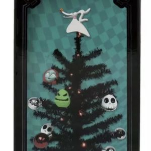 Disney The Nightmare Before Christmas Light Up Decorated Tree with Jack Skellington Base & Ornaments, Zero Topper, Sally & Oogie Boogie Man Ornaments for Sale in Romeoville, IL