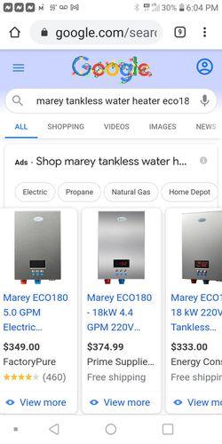 Marey Tanleas Water Heater 4.4 Gpm Brand New In Bix for Sale in Jacksonville,  FL