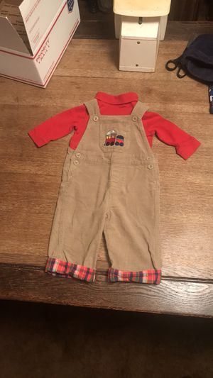 Baby boy train bibbed overalls outfit for Sale in McKeesport, PA