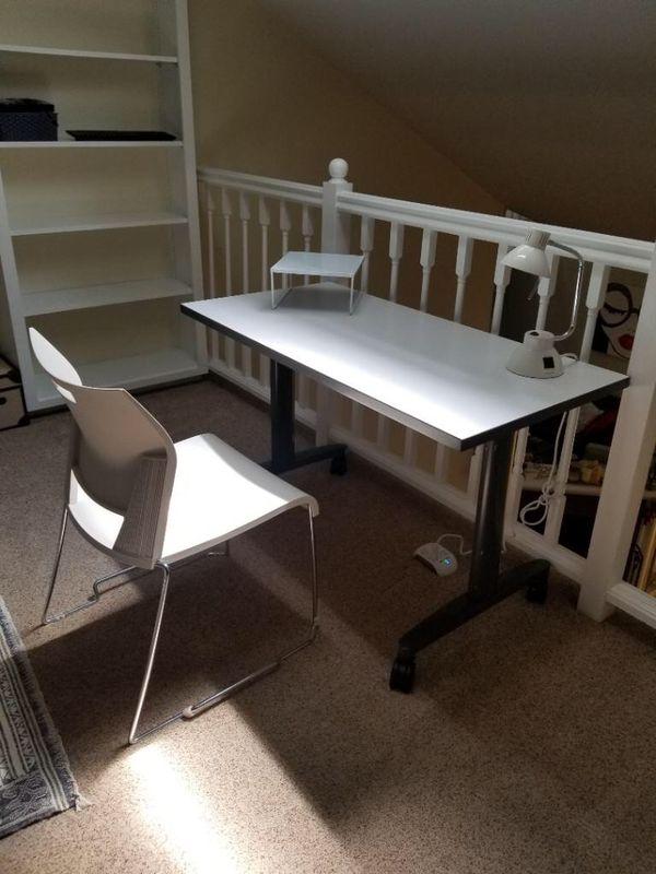 Fantastic Office Set: Desk, Chair, Lamp, Laptop Mini Desk